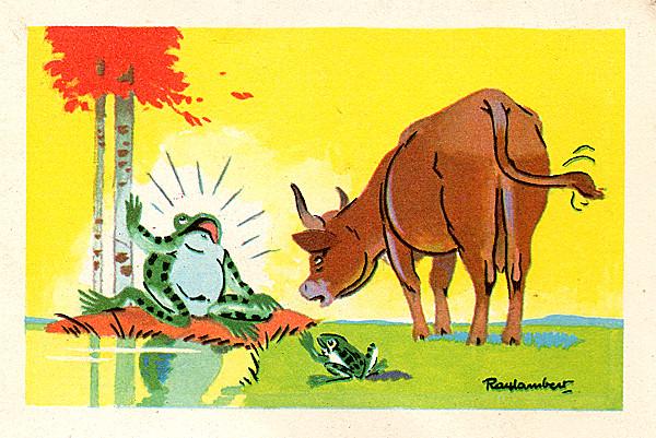 La grenouille qui veut se faire aussi grosse que le boeuf - Image la grenouille et le boeuf ...