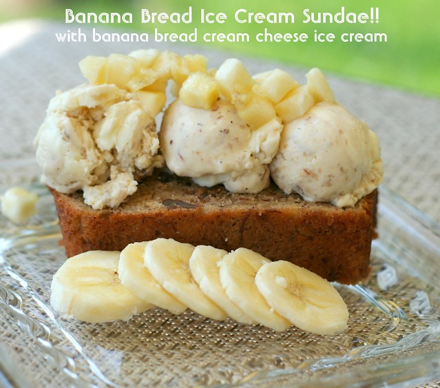 Banana Bread Ice Cream Served on Banana Bread! | Flickr - Photo ...