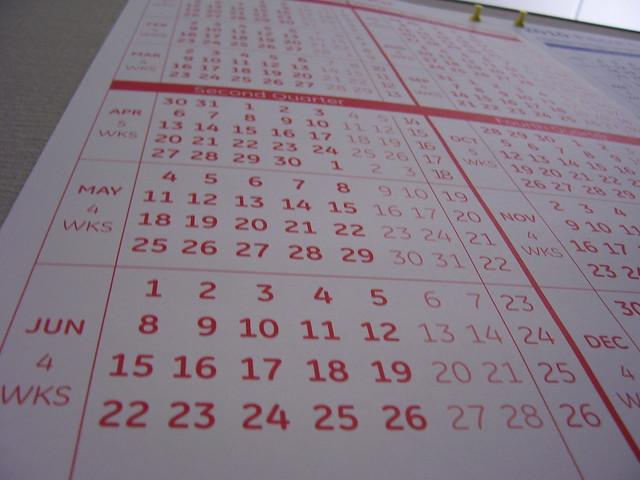 Progetto 365 Giorni - calendario