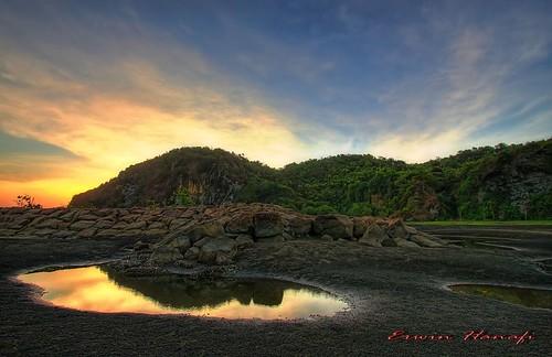 "sky reflection water indonesia java hill central hdr wmp bukit cilacap selok ""flickraward"""