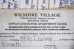 Application for Apartment Lease