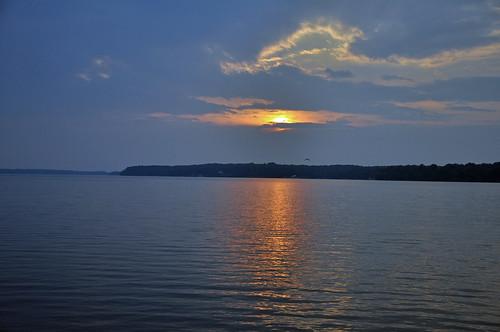 sunset nikon d90 sunsetonthelake roanokerapidsnorthcarolina