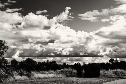 The Meadow and The Clouds by digitalambitions/ Valerie Hogg