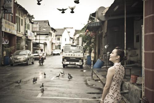 street olivia pigeon chinese seremban cheongsam 旗袍 zuiko35mmf28