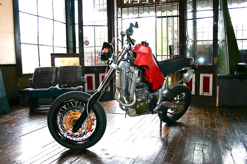 Custom Honda XR streetbike by Skylar Woodman