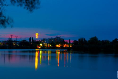 longexposure night lights hungary pentax tó magyarország bujtos k200d nyíregyhza