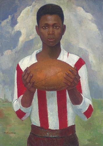 """Angel Zarraga """"Retrato de un jugador de rugby"""" 1925"""