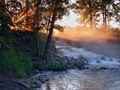 Byron Mills Pond's falls
