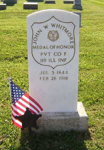 Whitmore MOH Civil War Headstone