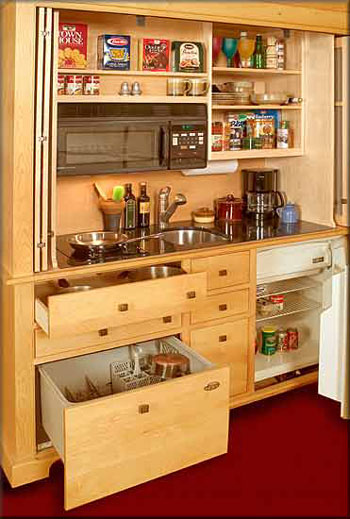 Small space living for Compact kitchens for small spaces
