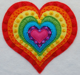 'Rainbow Heart' The final design ♥