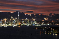 Auckland night time skyline