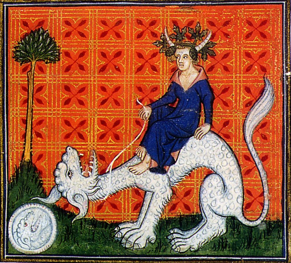 Bestiary Animali Fantastici Horned Woman Riding White ...