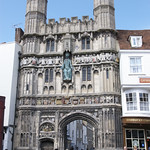 The gate to Canterbury Cathedral