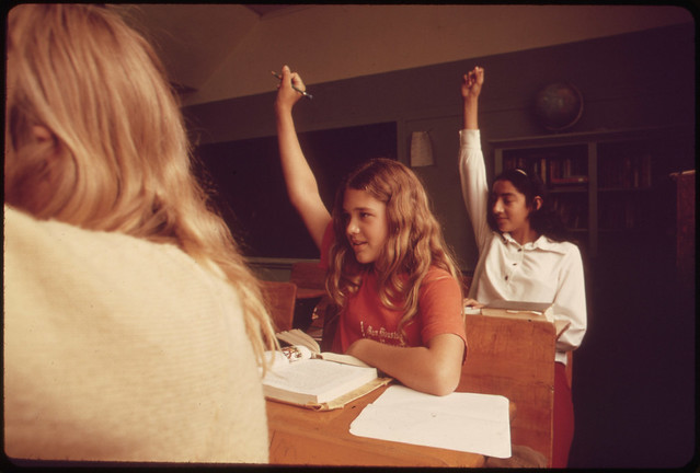 Students in a Classroom at Leakey, Texas, near San Antonio 05/1973