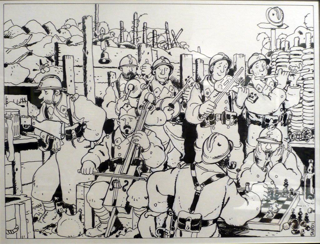 dessin de jacques tardi expos lhistorial de la grande guerre pronne