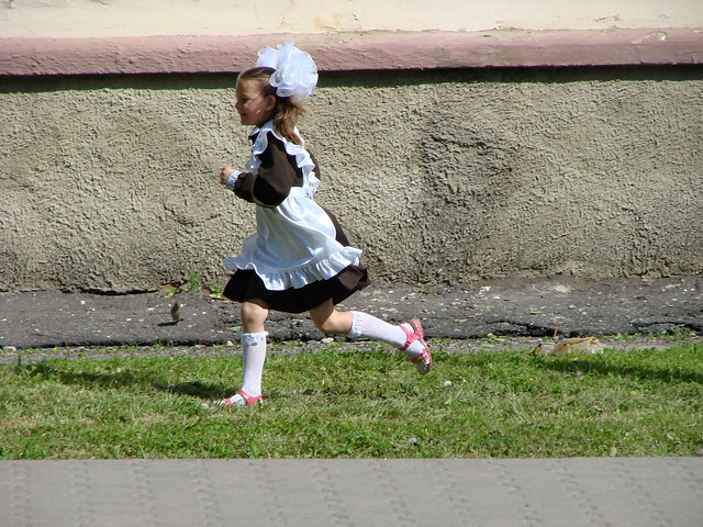 Young Girl in Traditional Dress - Running - Prokhorovka - Russia