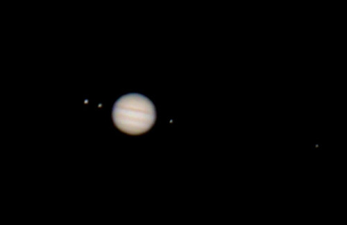 Jupiter with four Satellites