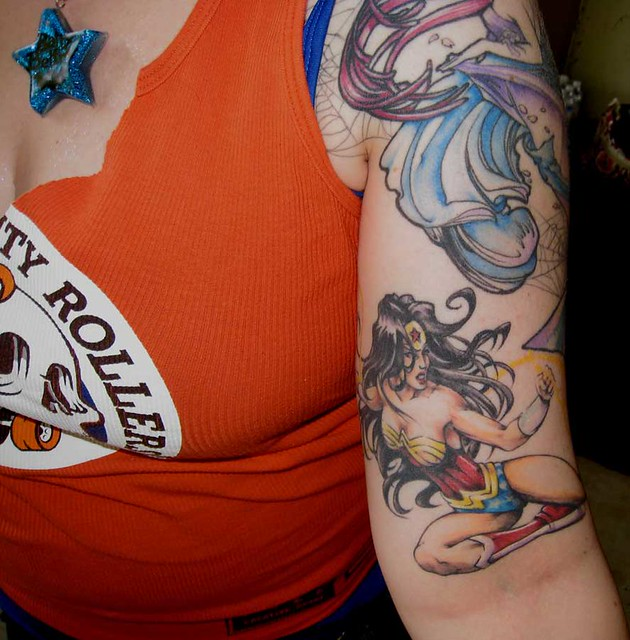 Awesome wonder woman tattoo flickr photo sharing for Tattooed wonder woman