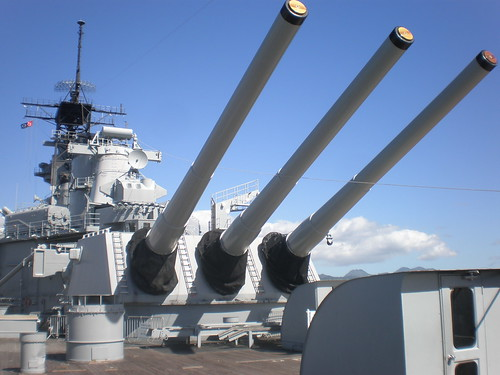 Mark 7 16-inch (50 cal.) gun barrels, USS Missouri, Pearl Harbor