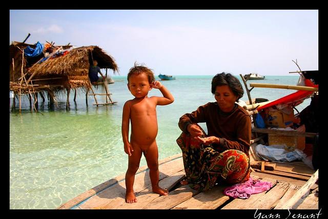 Borneo. Bajau village