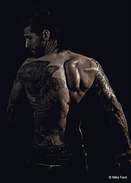 Male model tattoos