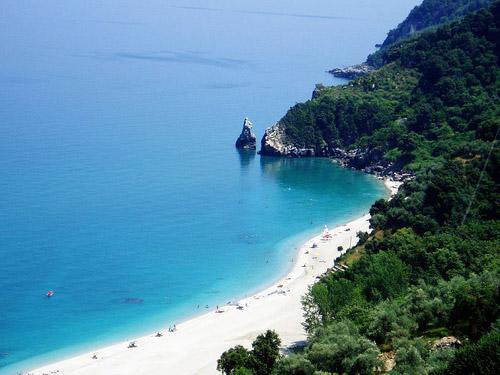 St. Saranta beach, Pelion