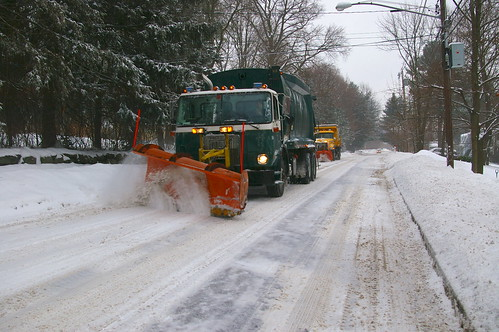 Snow plows on Prospect Street.