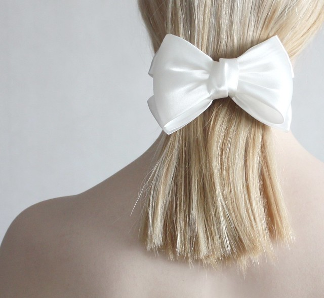 I wear white bows
