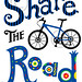 Share the Road -  t shirt / matted print