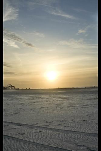 new sun beach water sunrise tracks nj footprints jersey wildwood