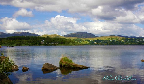 Lough Eske & Bluestack Mountains with Harveys Point