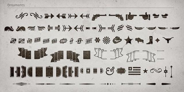 Western ornaments vector