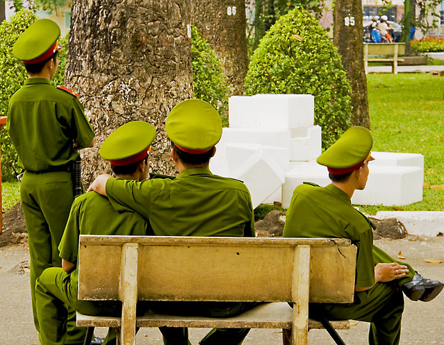 Saigon. Policemen on duty