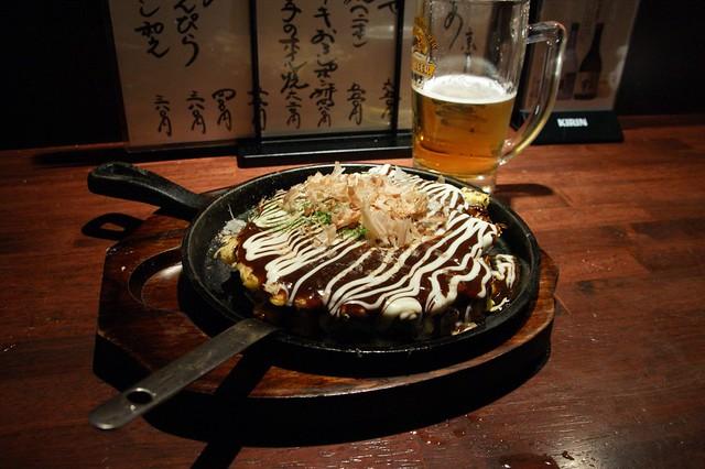 Okonomiyaki - Japanese style pizza - a photo on Flickriver