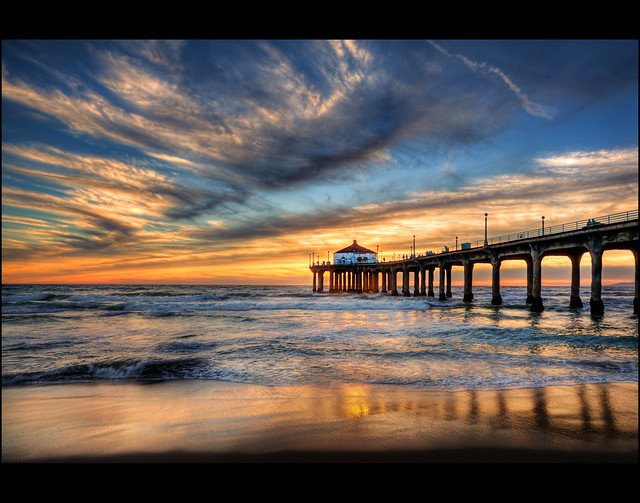 Manhattan Beach Pier Sunset Flickr Photo Sharing