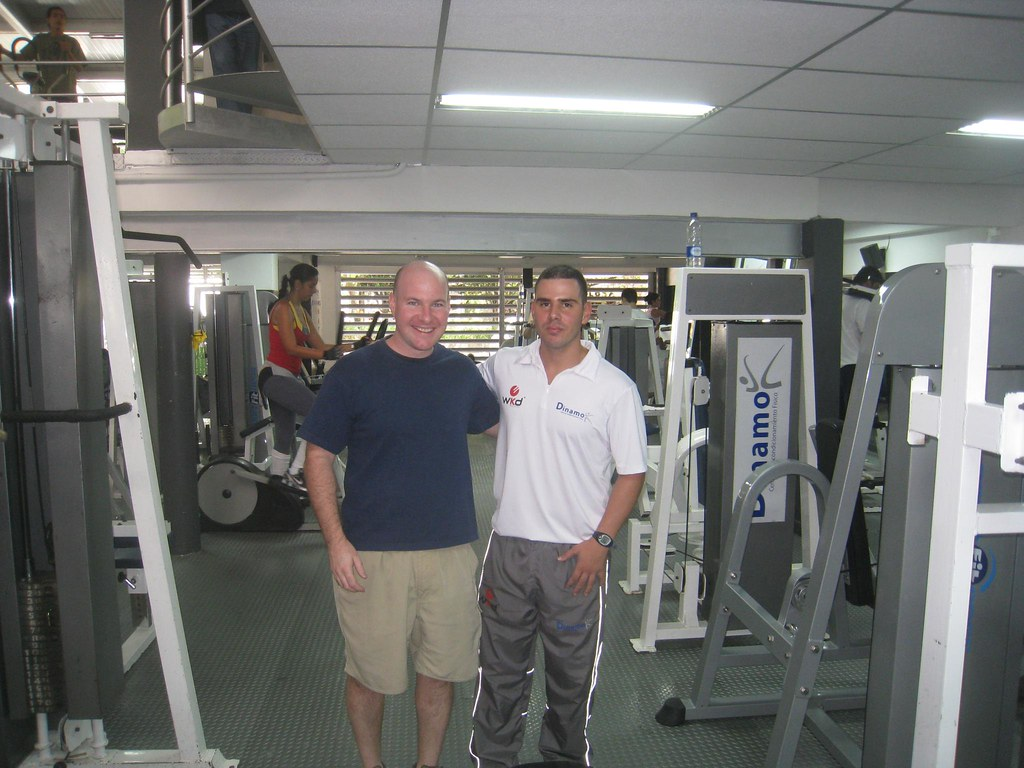 Me and Camilo, one of the trainers at Dinamo gym