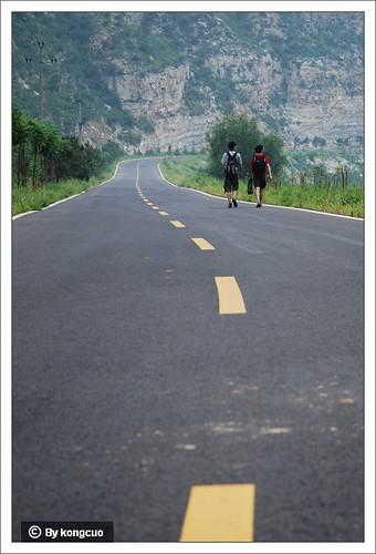 徒步沿河城-幽州-永定河峡谷-柏油路行走