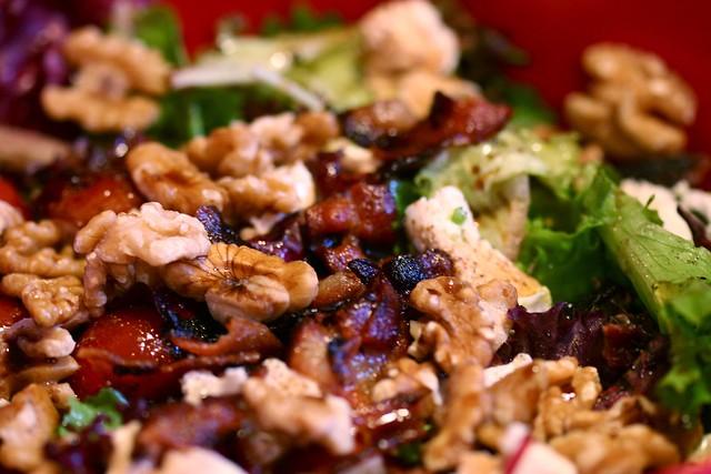 Bacon, Avocado, Cherry Tomato, Walnut, and Goat Cheese salad | Flickr ...