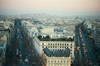 .2. //131/6k/6,013/49.f - View of Montmartre from the Arc de Triomphe, Paris 1996