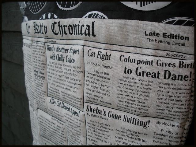 Newspaper Linen Bag