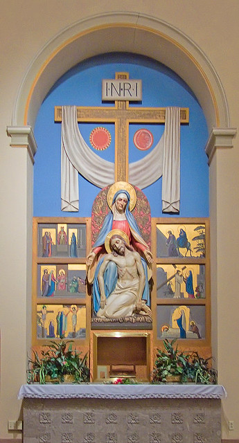 Our Lady of Sorrows church, Saint Louis, Missouri - altar of Mary