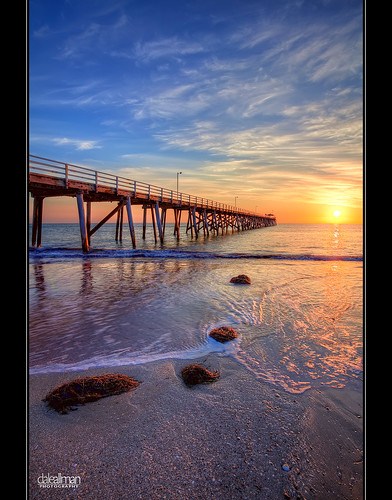 ocean sunset sun seaweed beach water clouds canon pier sand surf waves australia wideangle adelaide southaustralia hdr highdynamicrange grange 1740 3xp photomatix grangejetty canon5dmkii 5dmkii