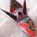 halloween butterfly peace crane origami ornament