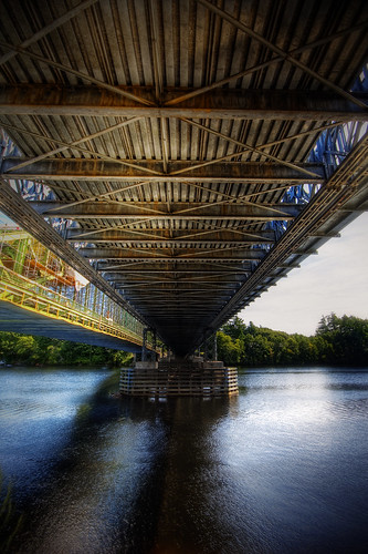 road bridge water photoshop canon river landscape construction steel massachusetts structure hdr tyngsboro 40d patrickcampagnone