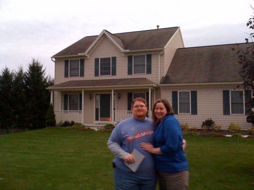 Me and Amy at our new house!!!