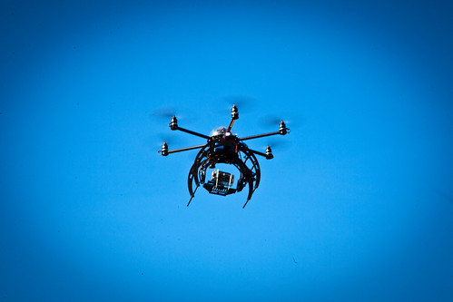 hexacopter with GoPro 3D rig