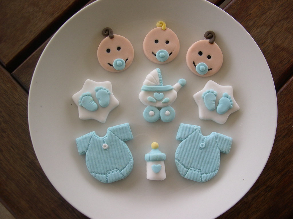 baby boy baby shower cupcake toppers - a photo on Flickriver