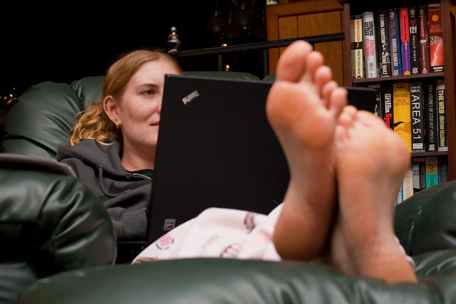 Women Feet Up in Your Face