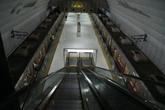 passenger, vehicle, train, transport, public transport, escalator, metro station,